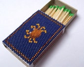Beaded King Crab Penny Match Box
