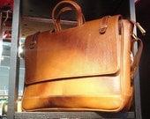 Full grain leather Laptop/ Messenger/ Office bag- TAN COLOUR
