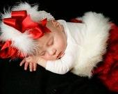 Santa Baby Diva Christmas Holiday Bow