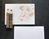 Mehndi Art - Letterpressed Note Cards