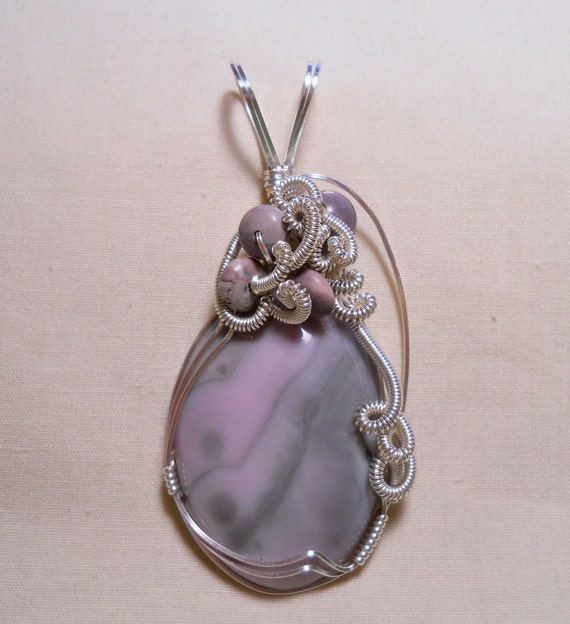 Bubbly Champagne Amethyst - Sterling Silver Filled Wire Wrapped Pendant