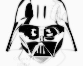 Darth Vader Cloaked in White PRINT