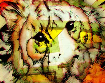 eye of the  tiger CONTEMPORARY ART PRINT