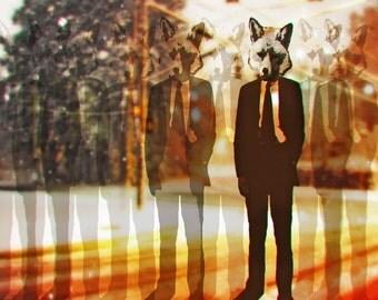 fox trot 11x14 print