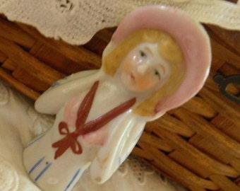 Charming Vintage Porcelain Half Doll