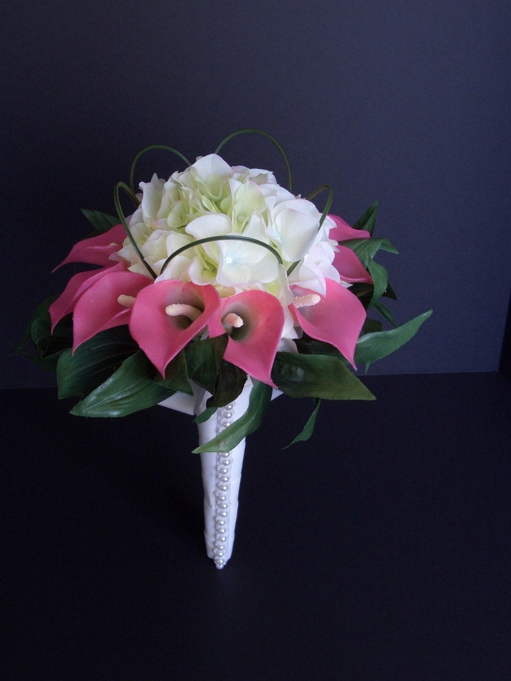 Bridal Bouquet With Calla Lilies And Hydrangeas : Pink calla lily hydrangea bridal bouquet by flowersforthought
