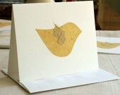 greeting card bird paper textured soft yellow all occasion