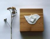 nursery decor wedding white bird cedar block