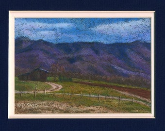 Tennessee Farmscape Original Pastel Painting