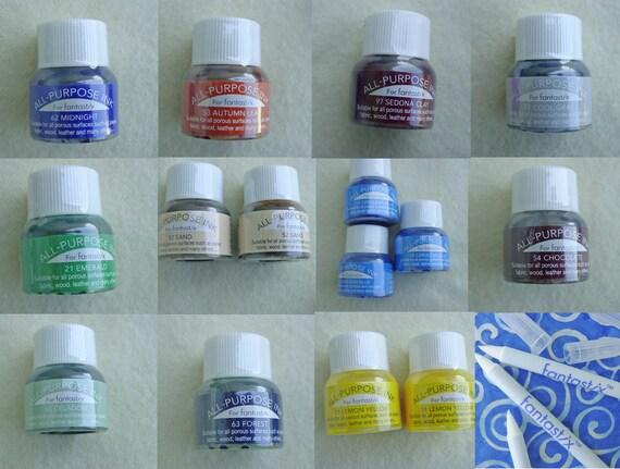 Fabric Inks - Fantastix - Tsukineko - 15 Bottles Unopened and Sealed - 15 Stix - Mix of Tips