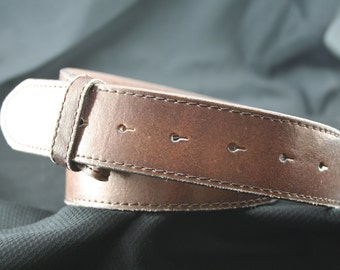 Brown Distressed Leather Belt Strap XS-XXL Handmade By Buckle It