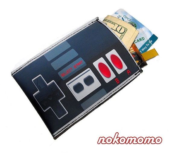 Wallet Pouch Old School Controller - For Business Cards, Credit and Gift Cards, Cash and more by nokomomo