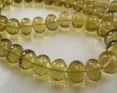 XLarge Honey Quartz Rondelles AAA Micro Faceted Honey Quartz Gemstone Beads,8.5-10mm