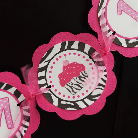 Items Similar To Cupcake Pink And Zebra