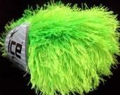 phosphoric green eyelash yarn mohawk hat funky yarn ice yarns 50 gr phosphore usa turkishmarket ships from florida