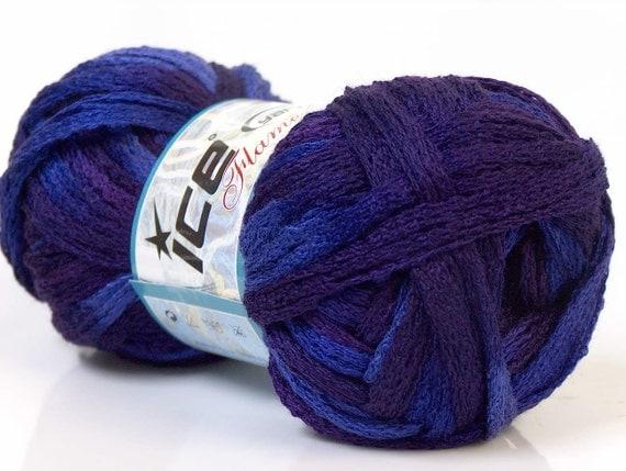 ice yarns flamenco purple maroon 1 skein superbulky yarn ruffle scarf yarn 100 gr turkish made in turkey knitting crochet supplies