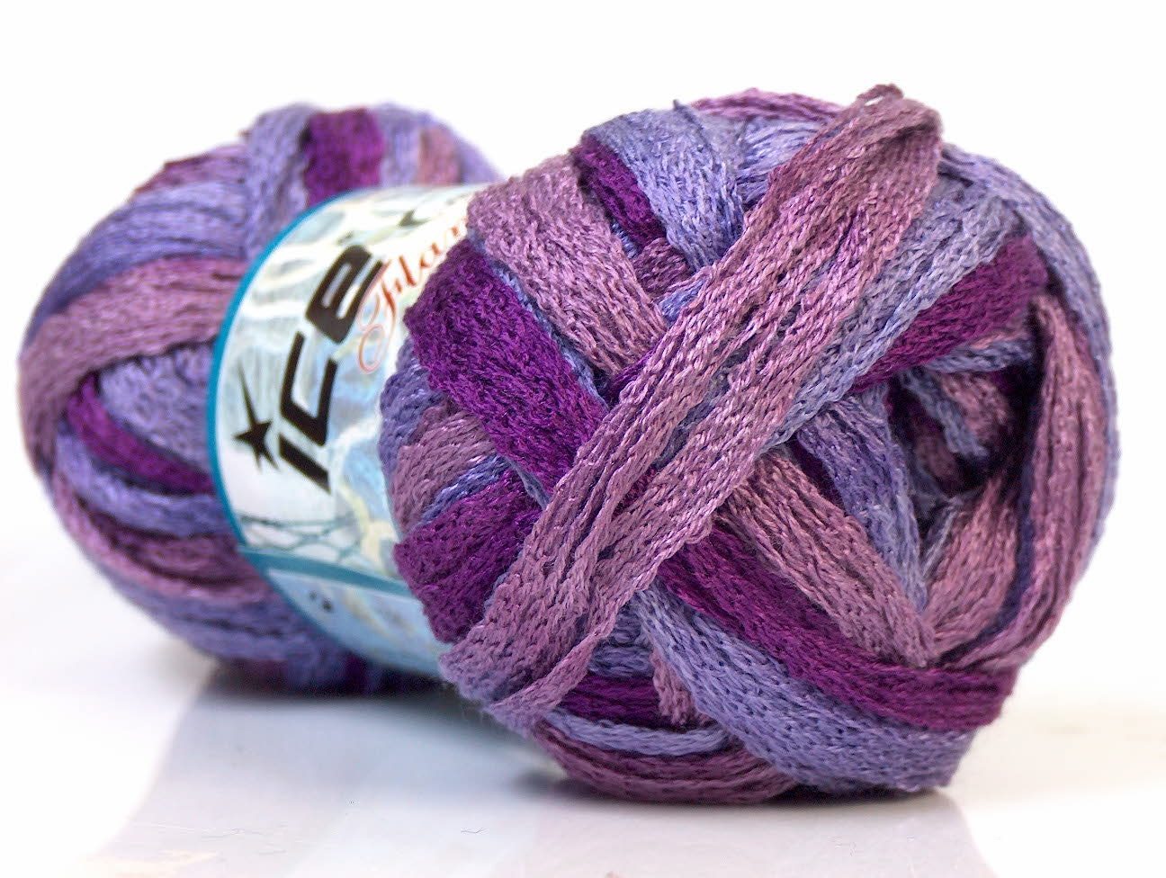 ruffle scarf yarn yarns flamenco lilac pink purple