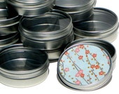10 Premium Blank Round Gift Tins - Ready To Decorate - High Quality Clear Window Lid - perfect for jewelry packaging