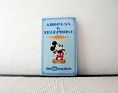 Walt Disney World Mickey Mouse Address Telephone Book
