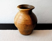 Vintage Hand Painted Mexican Clay Pot Vase