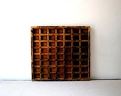 Antique Letterpress Print Jewelry Curio Cabinet Drawer Tray Shelf
