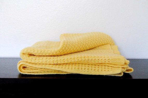 Vintage Canary Yellow Blanket