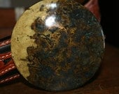 Burl Wood Patina on Brass handmade belt buckle for cowboys cowgirls or sophisticates