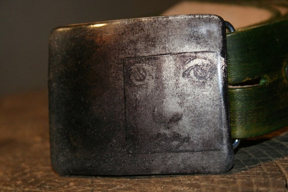 she Smiles from the Mist art Metal belt buckle for snapbelt