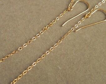 Custom order for dmcastillo - Modern Gold FIlled Single Chain Earrings