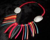 COLOR SPLASH Vintage NECKLACE