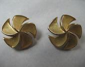 SALE Trifari Vintage Gold Earrings