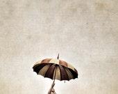 singing in the rain  child with umbrella 5x5 fine art photo nursery decor