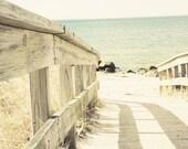 the path 8x10 fine art beach landscape photograph minimalist, calm,peaceful, neutrals