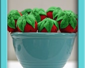Wool Felt Strawberries - Waldorf Inspired Playfood Accessory for Imaginative Play