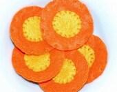 Felt Playfood - Serving of Sliced Carrots - Waldorf Inspired Boutique Felt Playfood