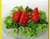 Wool Felt Salad Play Food - Lettuce Tomato Salad - Accessory for Imaginative Play