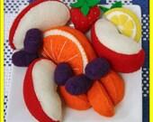 Wool Felt Play Food - Fruit Plate - Waldorf Inspired