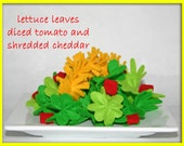 Felt Play Food - Salad - Waldorf Kitchen or Market Place Accessory for Imaginative Play
