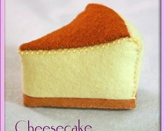 Wool Play Food Felt - Cheesecake - Waldorf Inspired Pretend Kitchen Accessory for Imaginative Play