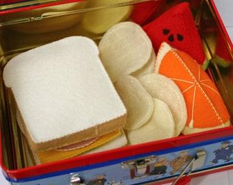 Wool Felt Play Food - Ham Sandwich