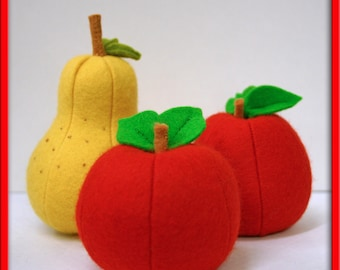 Wool Felt Play Food - Whole Apple