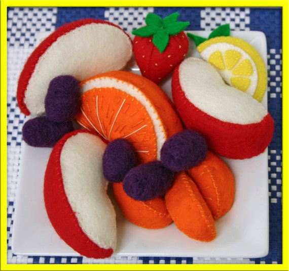 Wool Felt Play Food - Fruit Plate - Waldorf Inspired