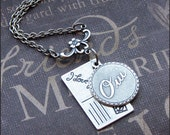 Silver Postcard Necklace - Enchanted Postcard From Paris - Jewelry By TheEnchantedLocket - Wife Anniversary Wedding Christmas Gift - SALE -