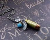 Bullet Charm Necklace - Enchanted Bullet Proof Faith - Jewelry by TheEnchantedLocket - ORIGINAL Wife Mother Graduation Anniversary Gift