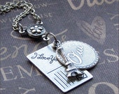 Silver Charm Necklace - Enchanted Trip to Paris - By TheEnchantedLocket