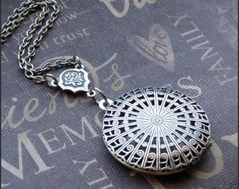 Silver Scent Locket Necklace- Enchanted Tangled  Web - Jewelry by TheEnchantedLocket - PRETTY Anniversary Wedding Gift