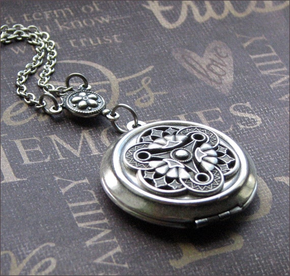 Silver Locket Necklace - Enchanted Filigree - By TheEnchantedLocket