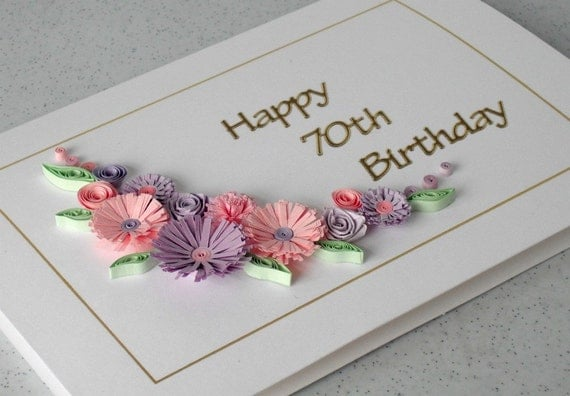 happy valentines day baby meme - 70th birthday card quilling flowers handmade by
