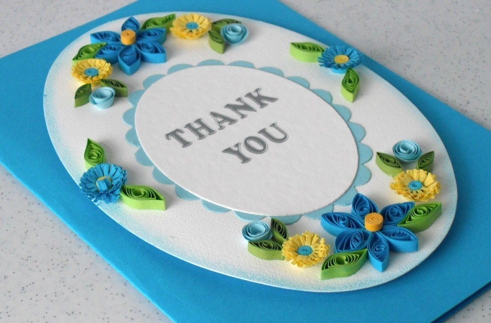 half price bargain quilled thank you card beautiful quilling