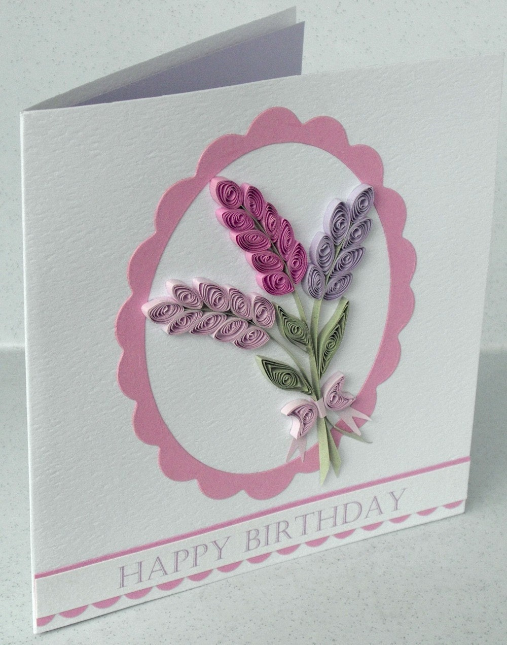 handmade birthday card paper quilling quilled